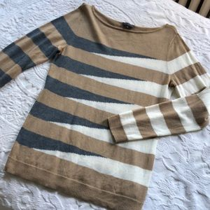 The Limited asymmetric striped wool blend sweater